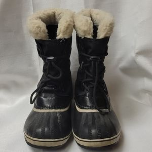 Sorel 1964 Pac Nylon black winter boots size 6